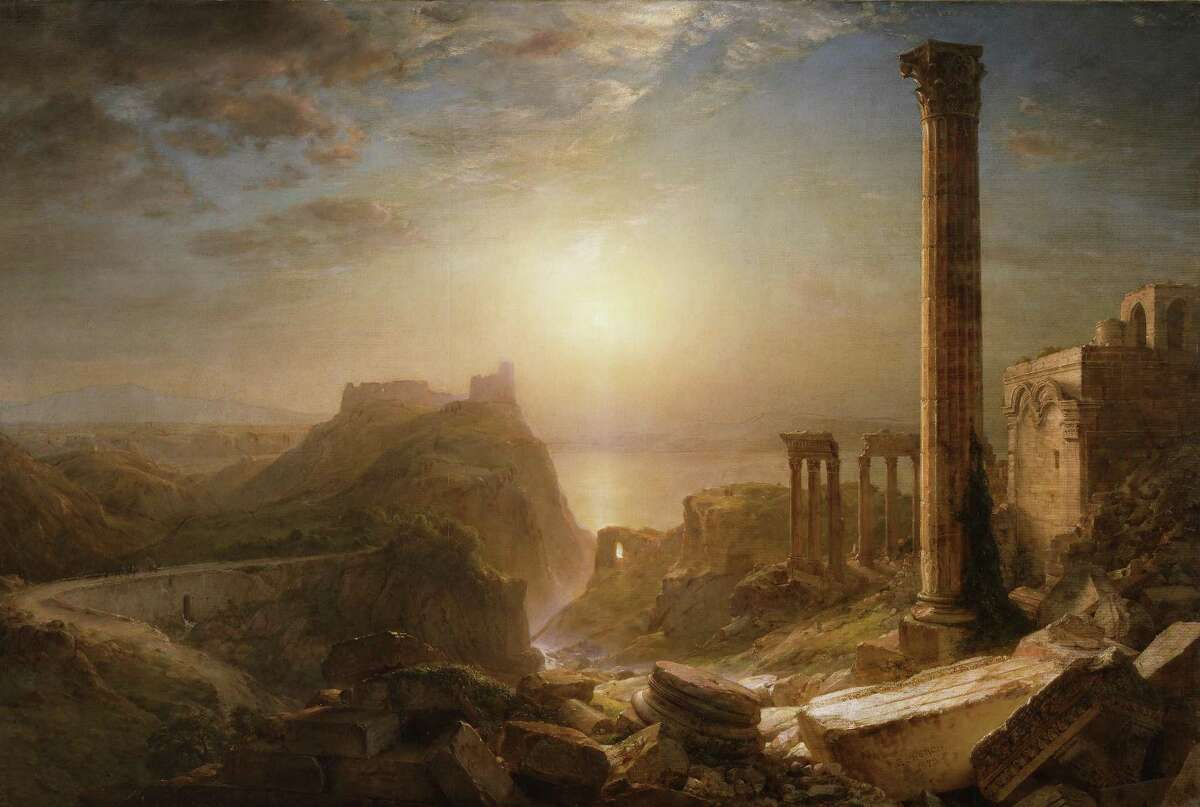 """""""Frederic Church: A Painter's Pilgrimage"""" features the artist's works created on a trip to the Middle East and Mediterranean. It opens to the public at the Wadsworth Atheneum at noon on June 2. Above is """"Syria by the Sea"""" 1873, oil on canvas from the Detroit Institute of Arts."""