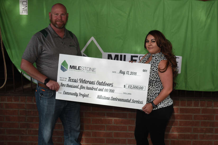 Milestone Environmental hosted an event May 17, 2018, at The Bar to celebrate a donation to Texas Veterans Outdoors. James Durbin/Reporter-Telegram Photo: James Durbin