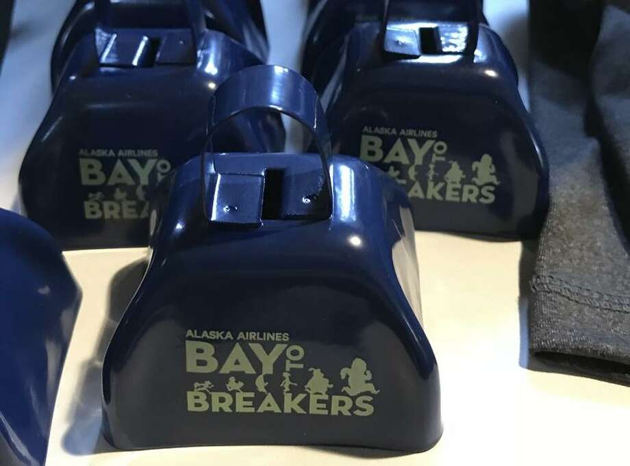Commemorative cowbells are among the many items available for purchase a day before the big race. Photo: Steve Rubenstein / The Chronicle