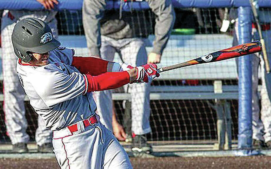 SIUE's Brock Weimer his his team-leading eighth home run of the season Saturday, but the Cougars lost to Jacksonville State 11-9 in 10 innings on a two-run homer by Jacksonville State catcher Nic Gaddis. Photo:       SIUE Athletics