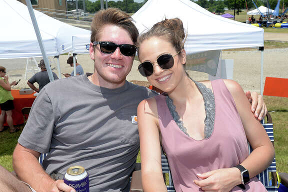Logan Cain and Kennedy Allen were at the 5th annual Shootout on the Sabine. Hosted by the City of Orange Convention & Visitors Bureau, the DSRA drag boat races feature drivers from Orange, Louisiana and MIssissippi, and wiill continue Sunday at the boat ramp in Orange. Photo taken Saturday, May 19, 2018 Kim Brent/The Enterprise