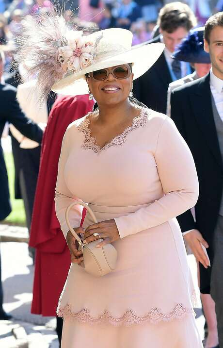 US presenter Oprah Winfrey arrives for the wedding ceremony of Britain's Prince Harry, Duke of Sussex and US actress Meghan Markle at St George's Chapel, Windsor Castle, in Windsor. Photo: IAN WEST, AFP/Getty Images