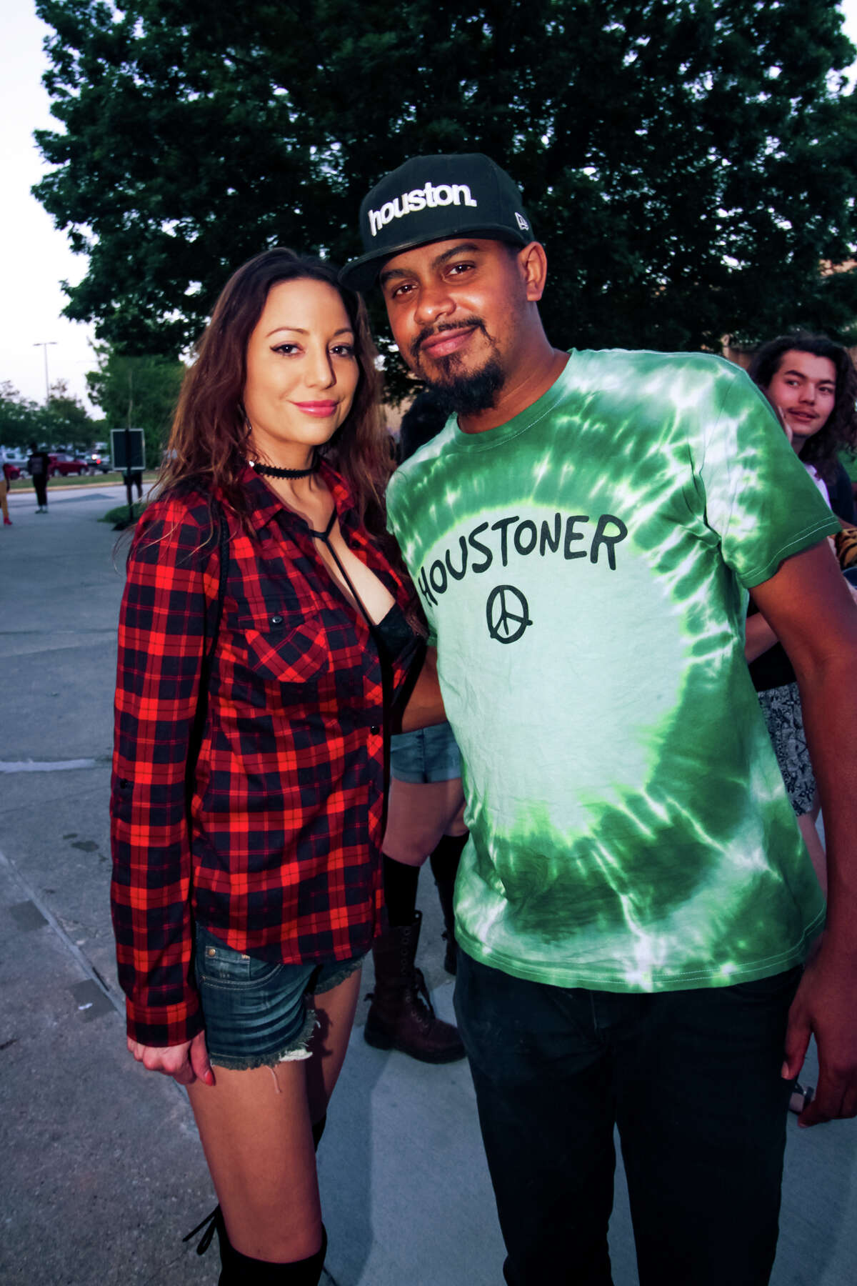 Fans of Kendrick Lamar, Sza, ScHoolboy Q and the rest of the Top Dawg Entertainment roster attend the Houston stop of The Championship Tour at the Cynthia Woods Mitchell Pavilion on May 19, 2018, in The Woodlands. (Photo by Marco Torres/For the Chronicle)