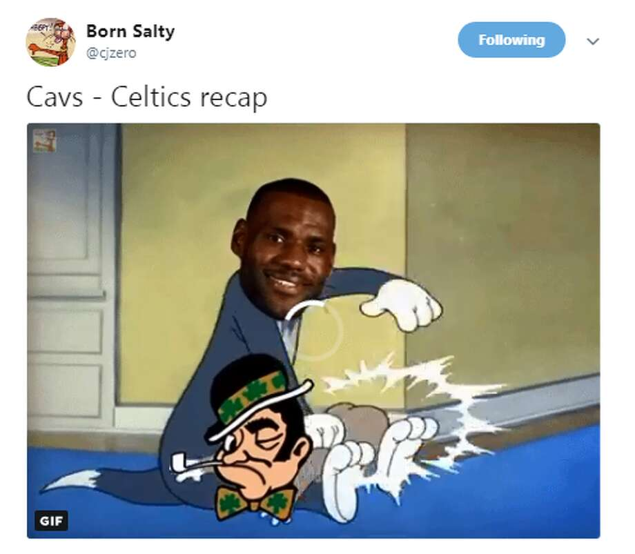 Source: TwitterBrowse through the photos for more memes from Celtics-Cavs Game 3. Photo: Source: Twitter