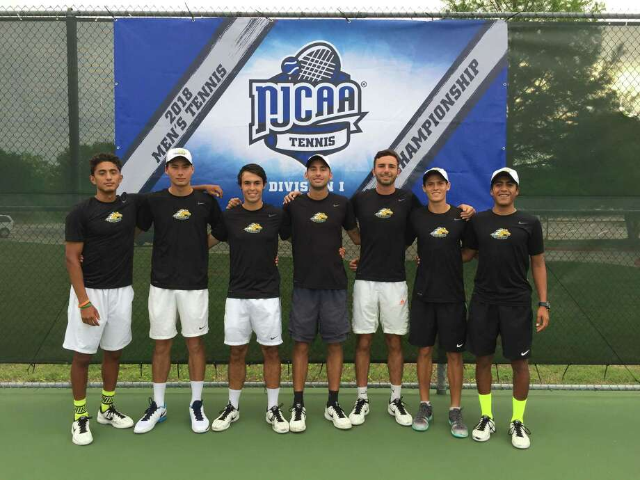 The Palominos tied for sixth place at the NJCAA men's tennis national championships in Plano. Photo: Courtesy Of LCC Athletics