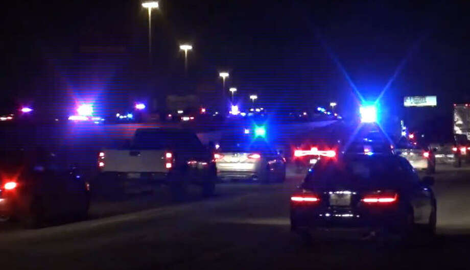 A woman died overnight after she was hit by a car on Katy Freeway. Photo: Metro Video