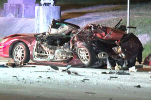 One person died after a driver blew through a red light in northern Harris County, sparking a three-car wreck.