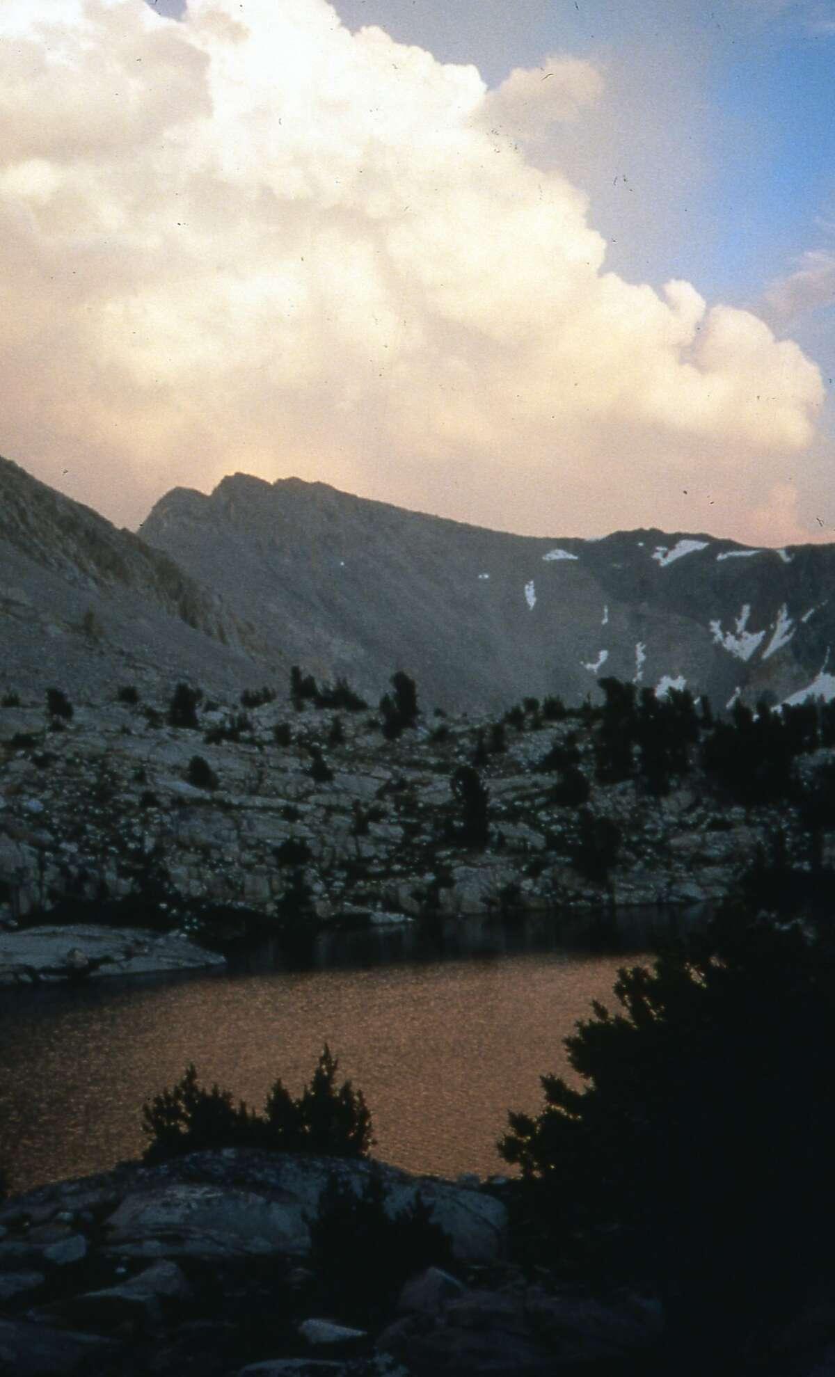 While hiking John Muir Trail, we encountered these building cumulus over high Sierra Nevada in John Muir Wilderness