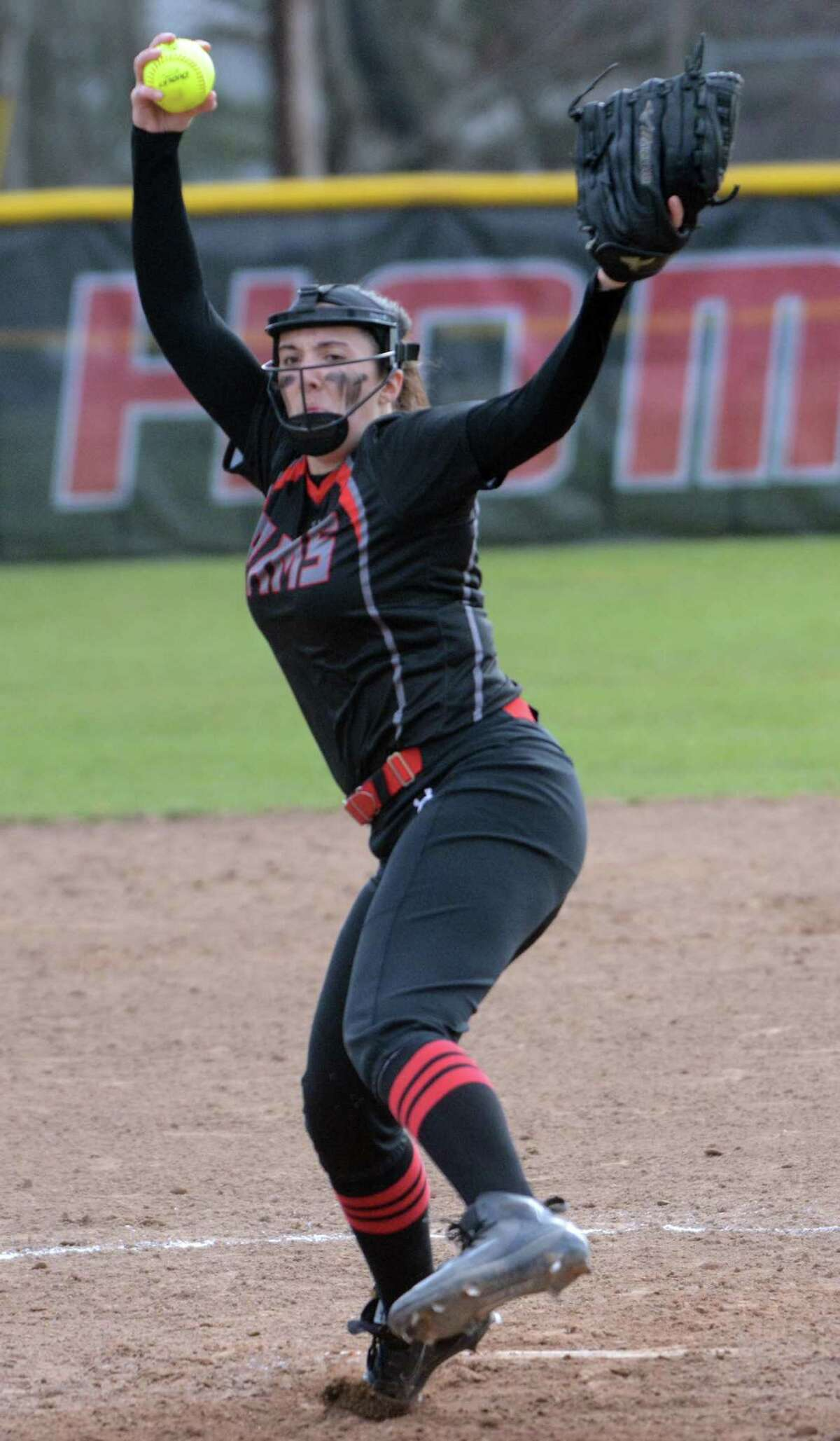 Cheshire pitcher Natalie Amato has led the Rams to 14 straight victories. The defending SCC champs are undefeated in league play.