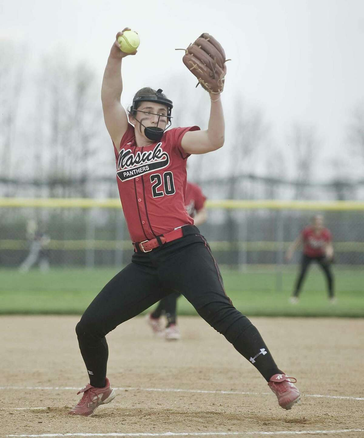 Masuk pitcher Madison Procyk is one half of the Panthers' dynamic pitching tandem. She and Sam Schiebe have combined to shut out 16 of Masuk's 19 opponents.