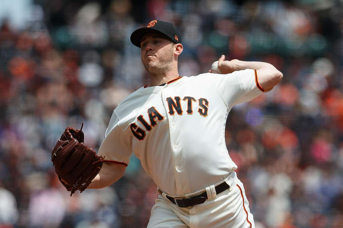 SAN FRANCISCO, CA - MAY 20: Ty Blach #50 of the San Francisco Giants pitches against the Colorado Rockies during the first inning at AT&T Park on May 20, 2018 in San Francisco, California. (Photo by Jason O. Watson/Getty Images)