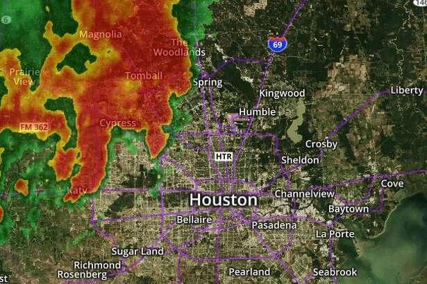 Radar image as of 5:50 p.m. Sunday, May 20.
