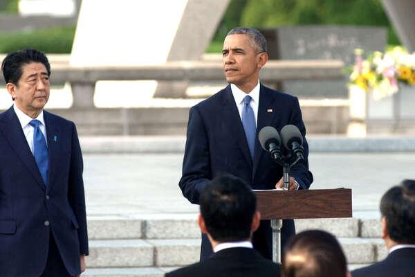 Shinzo Abe, Barack Obama. photo: HBO