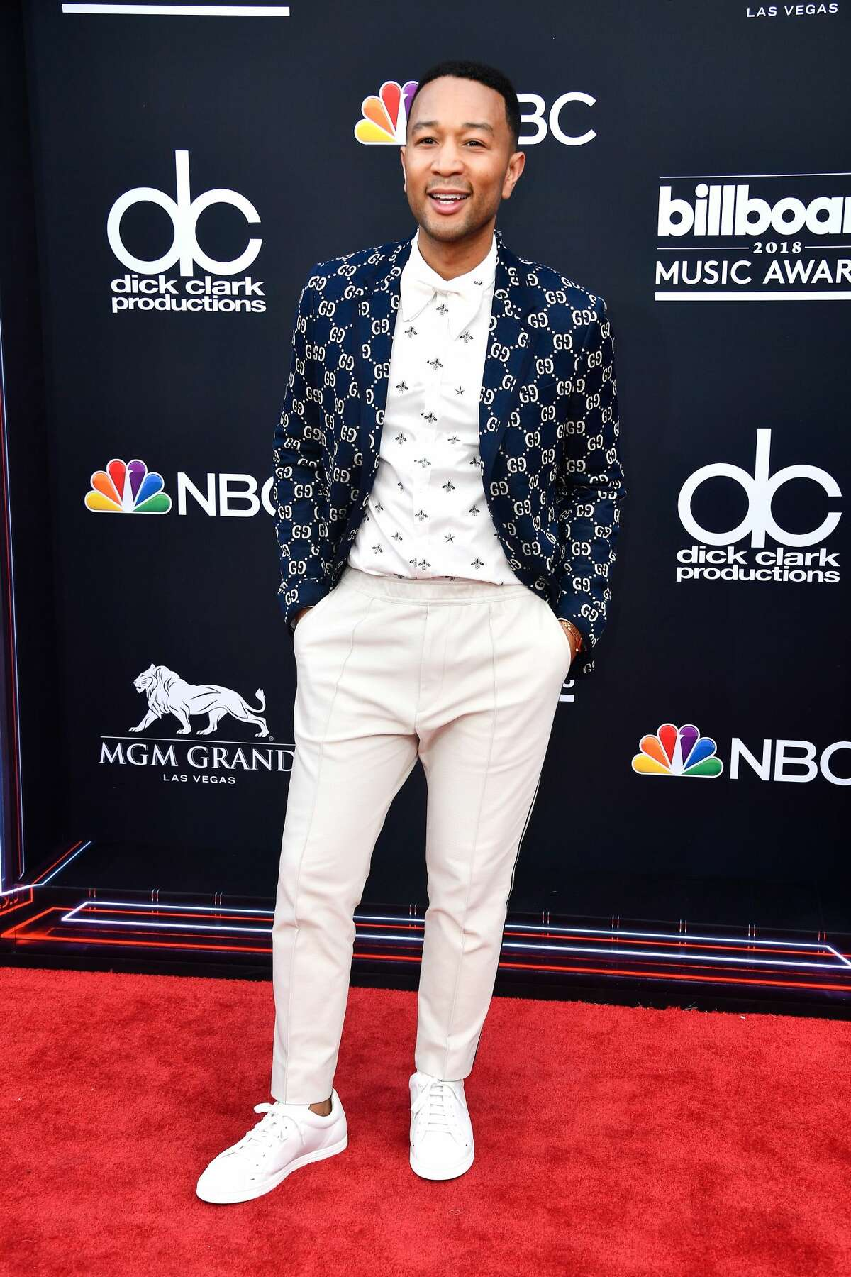 LAS VEGAS, NV - MAY 20: John Legend attends the 2018 Billboard Music Awards at MGM Grand Garden Arena on May 20, 2018 in Las Vegas, Nevada. (Photo by Frazer Harrison/Getty Images)