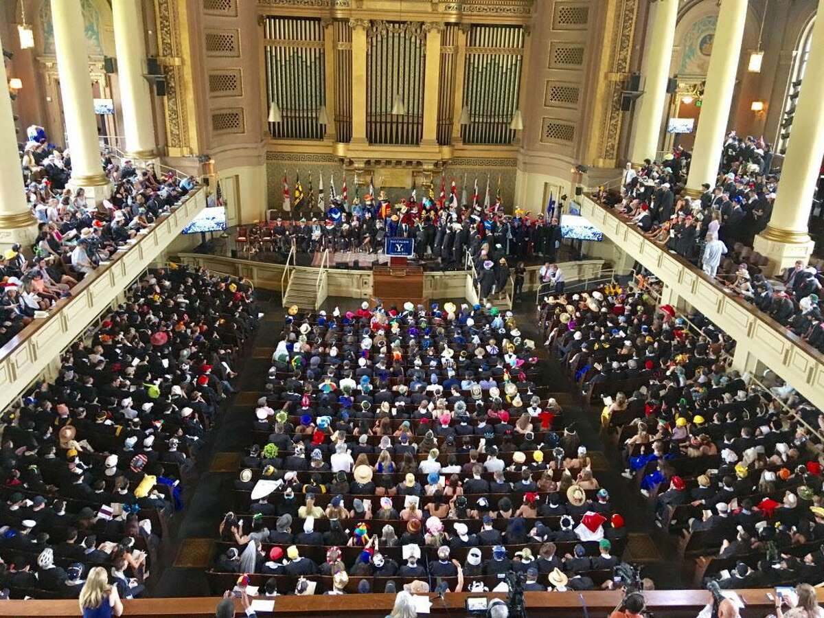 Yale Class Day at Woolsey Hall. May 20, 2018. New Haven