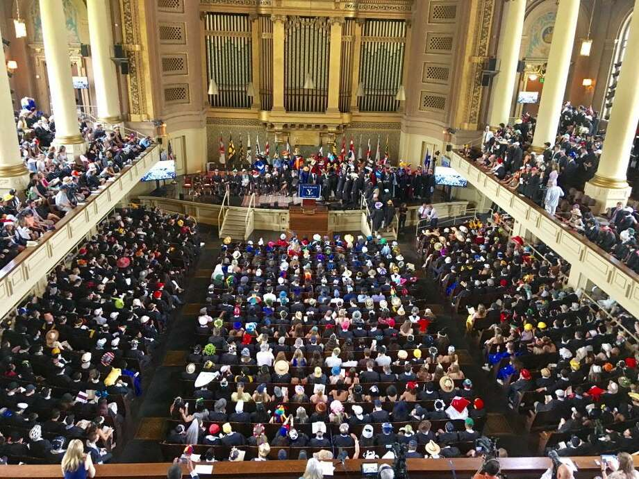 Yale Class Day at Woolsey Hall. May 20, 2018. New Haven Photo: Linda Conner Lambeck
