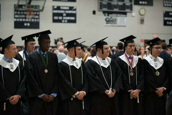 One hundred and fifty nine young men marched into Xavier High School in Middletown as undergraduates and left as alumnus after the school's 52nd annual commencement exercises Sunday.