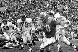 Running back Billy Cannon signed with the Oilers in November 1959 after playing at LSU.