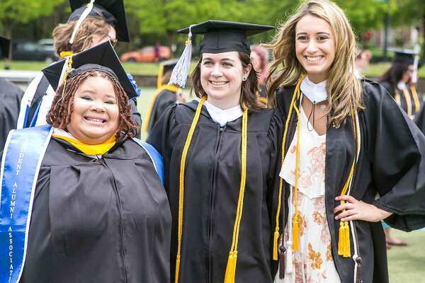 (John Vanacore/For Hearst Connecticut Media)  Scenes from the 95th Commencement Exercises of Albertus Magnus College Sunday, May 20, 2018.