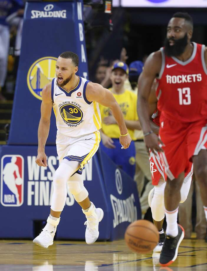Golden State Warriors  Stephen Curry reacts in the third quarter during game  3 of the 11b0b72fa
