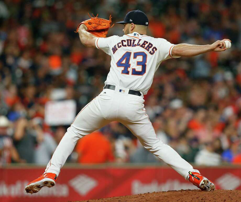 Astros starter Lance McCullers Jr. threw 39 breaking balls Sunday after tossing just 21 and 28, respectively, in his past two starts. Photo: Bob Levey, Getty Images / 2018 Getty Images