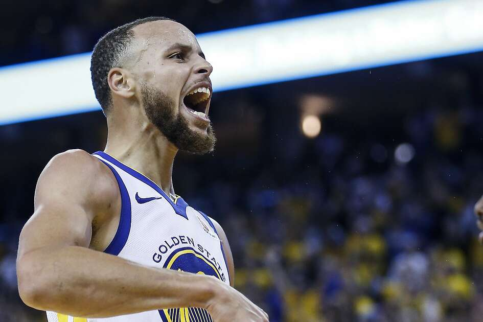 Sfgate san francisco bay area news bay area news sports golden state warriors guard stephen curry 30 celebrates scoring on the houston rockets during fandeluxe Gallery