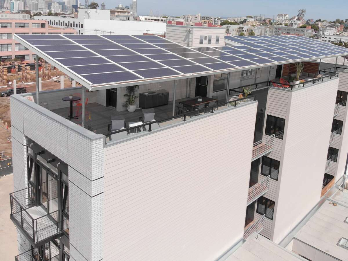 Solar panels top the newly constructed residences in the Inner Mission.