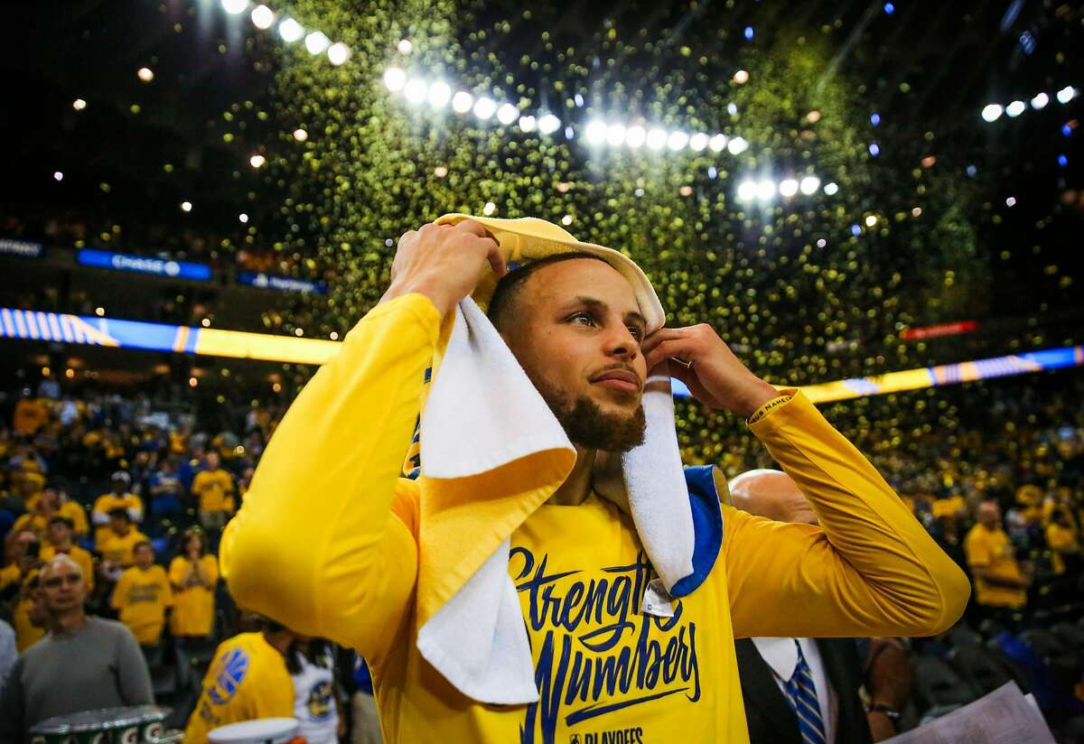 Stephen Curry after winning Game 3 of the Western Conference Finals. Click ahead to see the best memes from the game.