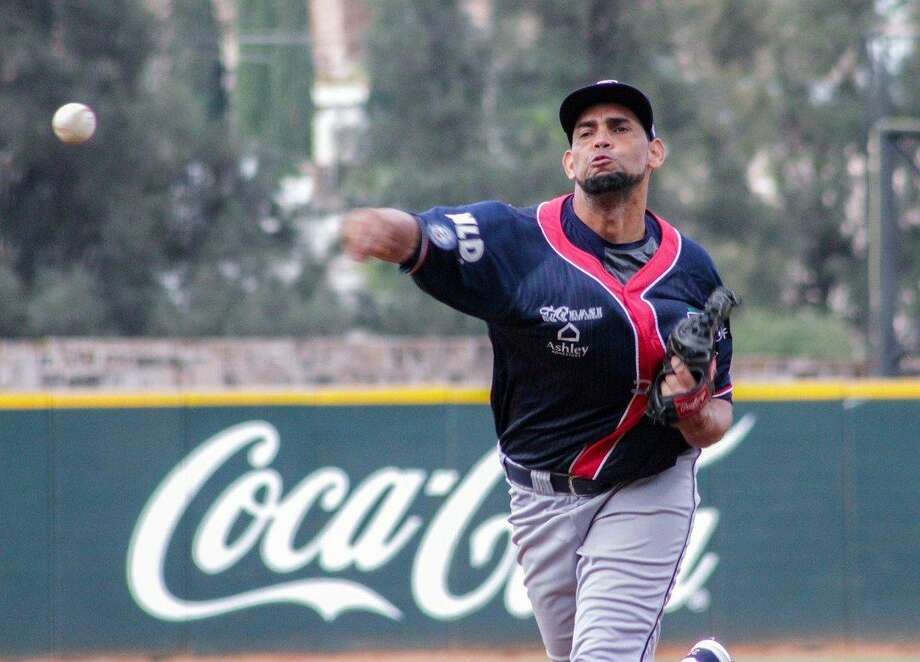Jose Pina was in line for the win Sunday allowing two runs off seven hits with seven strikeouts in seven innings as the Tecolotes led 4-2 in the eighth inning at press time at Tijuana. Photo: Courtesy Of Tecolotes Dos Laredos