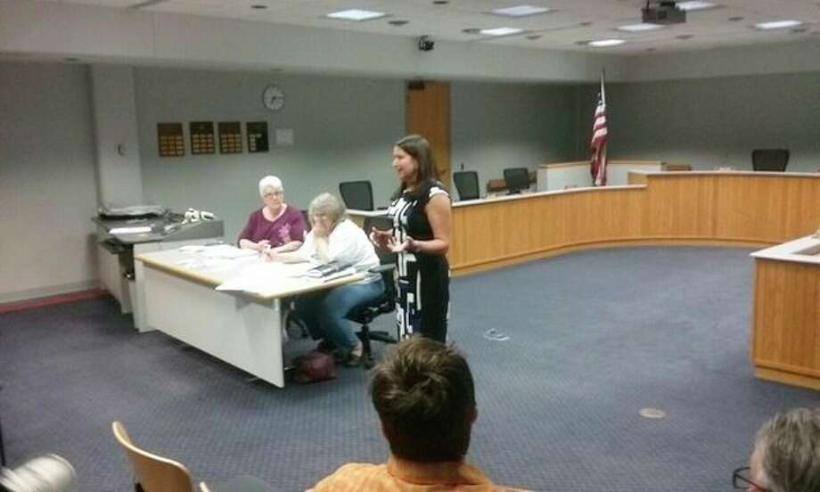 Kristen Brown talks about her candidacy for the 99th State House District while in Midland at the monthly Midland MI Democratic Party meeting.