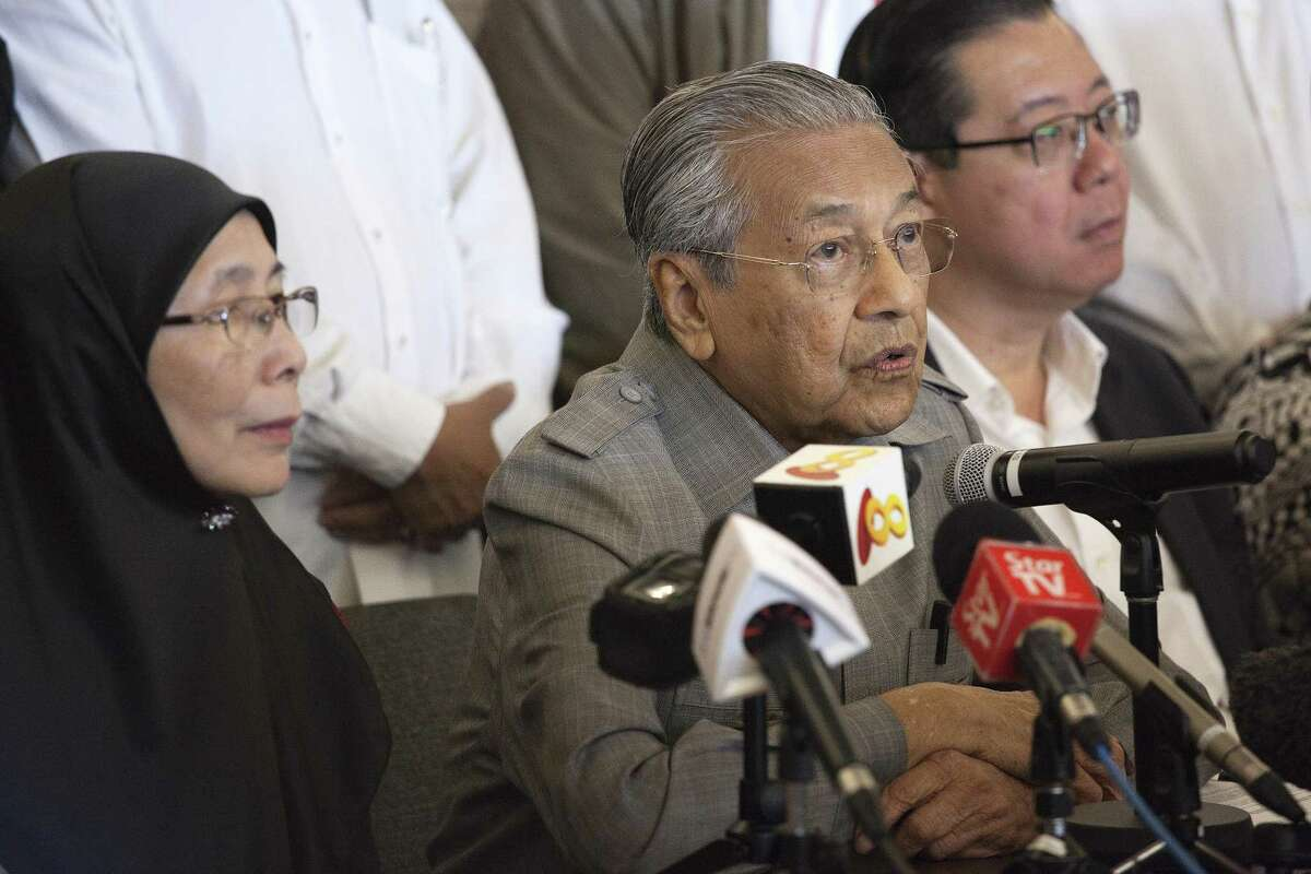 Mahathir Mohamad speaks during a news conference in Kuala Lumpur, Malaysia, on May 10, 2018.