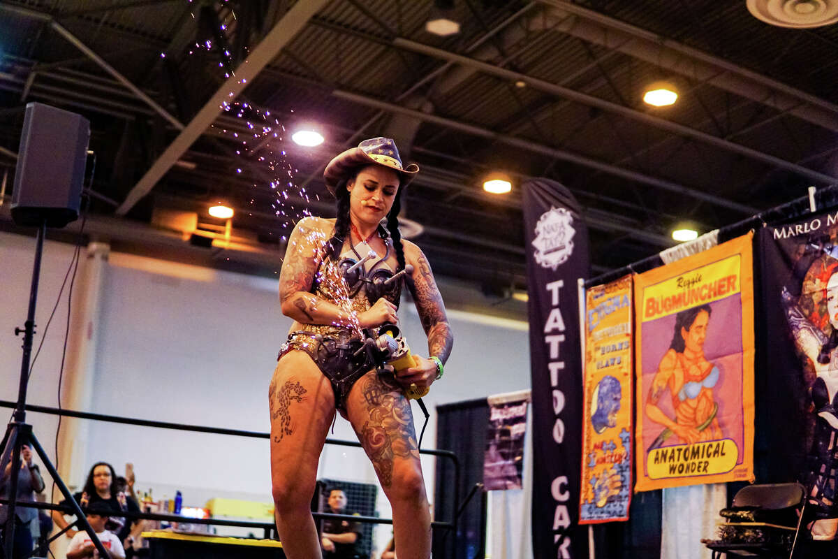 The popular Philadelphia-based tattoo convention operator/promotor Villain Arts hosted the inaugural Houston Tattoo Arts Convention at NRG Center over the weekend of May 18th-20th, 2018. (Photo by Marco Torres/Freelance)