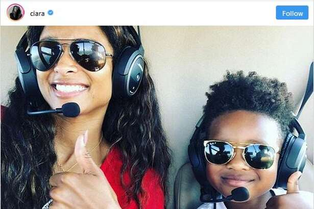 Ciara and 4-year-old Future Zahir took flight Sunday with Russell Wilson as the pilot for the boy's birthday.