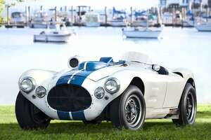 The 23rd annual Greenwich Concours d'Elegance, slated June 2-3, is at Roger Sherman Baldwin Park on scenic Greenwich Harbor. A collection of famous Briggs Cunningham race and street cars from the 1950s will be a highlight of the 2018 event. Above is the 1952 Cunningham C-4R, with Greenwich Harbor in the background.