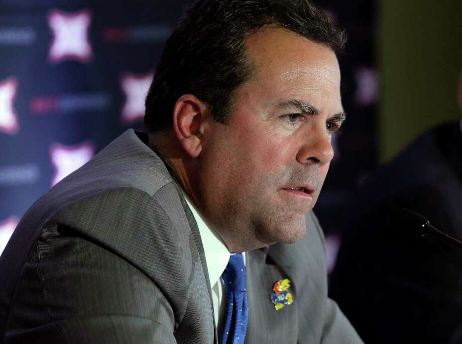 """FILE - In this June 1, 2016,file photo, Kansas athletic director Sheahon Zenger is shown at the Big 12 sports conference meeting in Irving, Texas. The University of Kansas has fired athletic director Sheahon Zenger, with Chancellor Douglas Girod saying that """"progress has been elusive"""" in some areas of the program. Girod announced Monday, May 21, 2018, that he relieved Zenger of his duties, effective immediately and elevated deputy director Sean Lester to take his place as interim athletic director while the university searches for a replacement. (AP Photo/LM Otero File) Photo: LM Otero, Associated Press / Copyright 2018 The Associated Press. All rights reserved."""