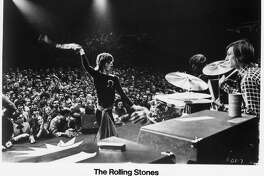 GIMME SHELTER - Directed by David Maysles, Albert Maysles, Charlotte Zwerin.  Mick Jagger and The Rolling Stones.  HOUCHRON CAPTION (11/23/2000): Mick Jagger, left, performs in Gimme Shelter.