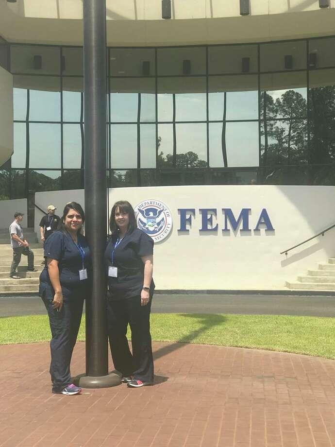 Recently Covenant Health Plainview Emergency Services Manager Melissa Rodriguez, RN and Women's Services Manager Danette Howell, RN traveled to Anniston, Alabama, for the Center for Domestic Preparedness' Healthcare Leadership for Mass Causality Incidents training. Photo: Courtesy Photo