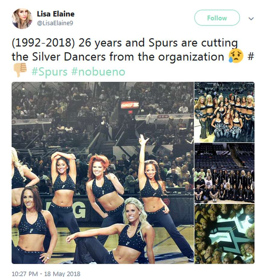 @LisaElaine9: (1992-2018) 26 years and Spurs are cutting the Silver Dancers from the organization Photo: Twitter Screengrabs