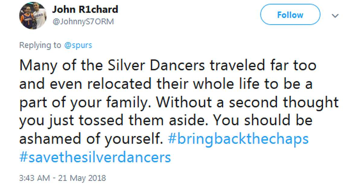 @JohnnyS7ORM: Many of the Silver Dancers traveled far too and even relocated their whole life to be a part of your family. Without a second thought you just tossed them aside. You should be ashamed of yourself. #bringbackthechaps #savethesilverdancers