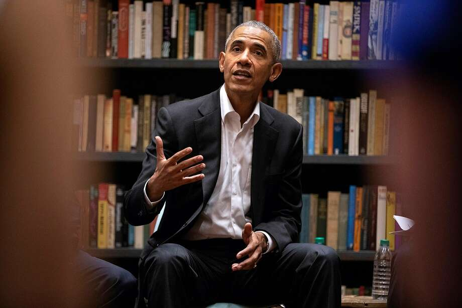 FILE -- Former President Barack Obama speaks to Obama Foundation Fellows gathered on Wednesday, May 16, 2018 at Stony Island Arts Bank in Chicago, Ill. The University of California, Riverside named a newly discovered creature after the former president. Photo: Erin Hooley / TNS