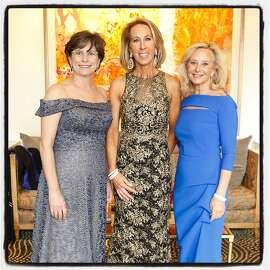 Part the Cloud cochair Ellen Drew (left) with event founder Mikey Hoag and cochair Debbie Robbins at Rosewood Hotel. April 28, 2018.