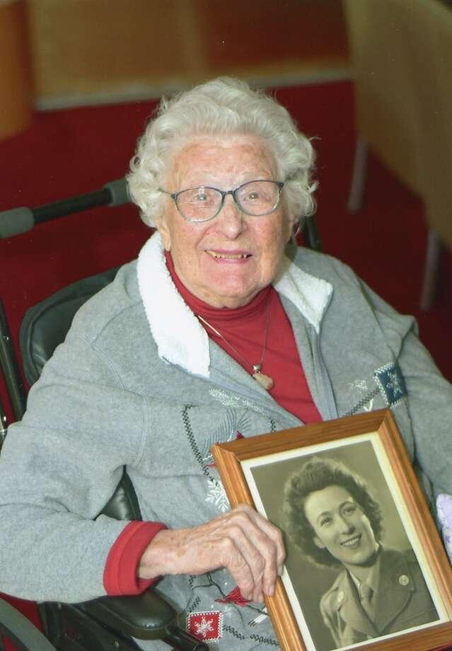 Sgt. Edith Lloyd Gagliardi - WAC (Women's Army Corps) - WWII - England & France Photo: Photo Provided