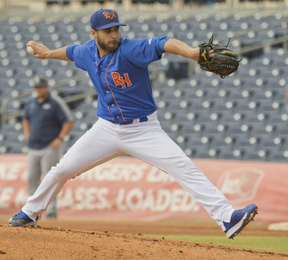 RockHounds starting pitcher Norge Ruiz delivers a pitch 05/21/18 as the Hounds take on the San Antonio Missions during a day game at Security Bank Ballpark. Tim Fischer/Reporter-Telegram Photo: Tim Fischer/Midland Reporter-Telegram