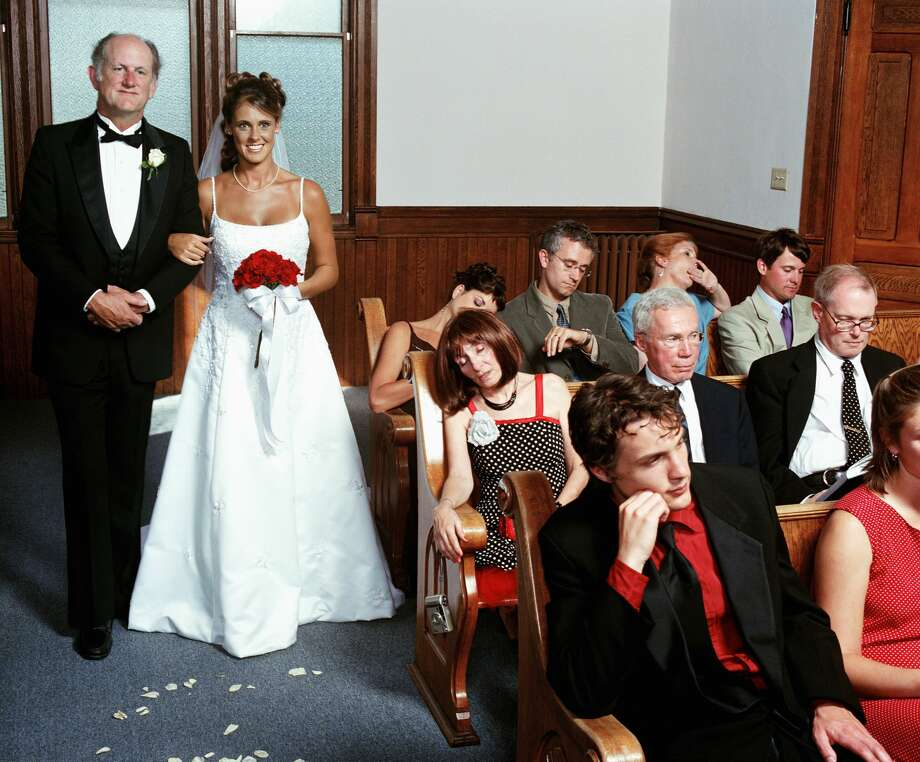 Some family members RSVP for a wedding but don't really want to be there. Photo: Greg Ceo/Getty Images