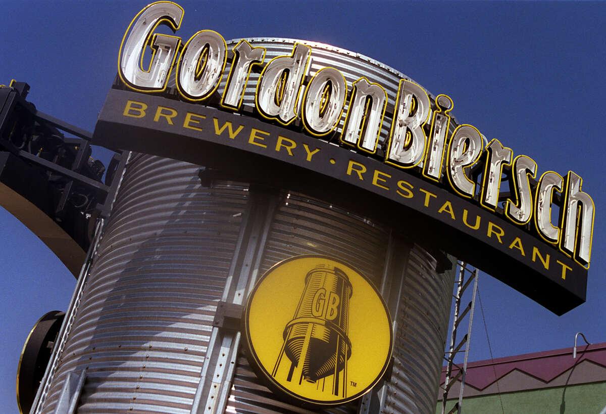 The exterior of the Gordon Biersch brewery restaurant in Orange.