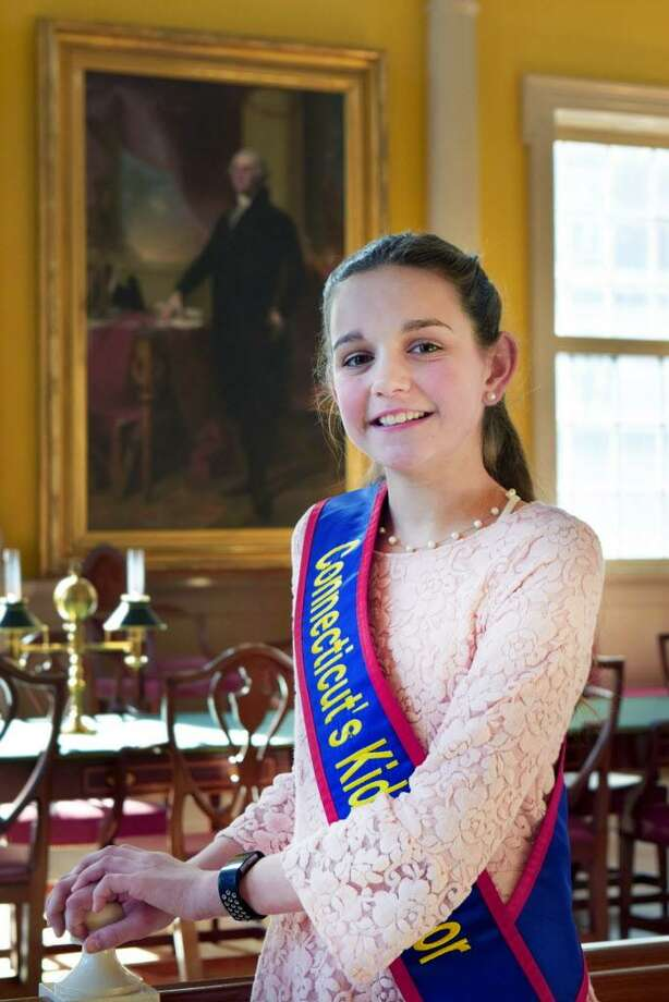Megan Kasperowski from Brownstone Intermediate School in Portland was elected by fifth-graders statewide as the 2018 Connecticut's Kid Governor. Photo: Contributed Photo