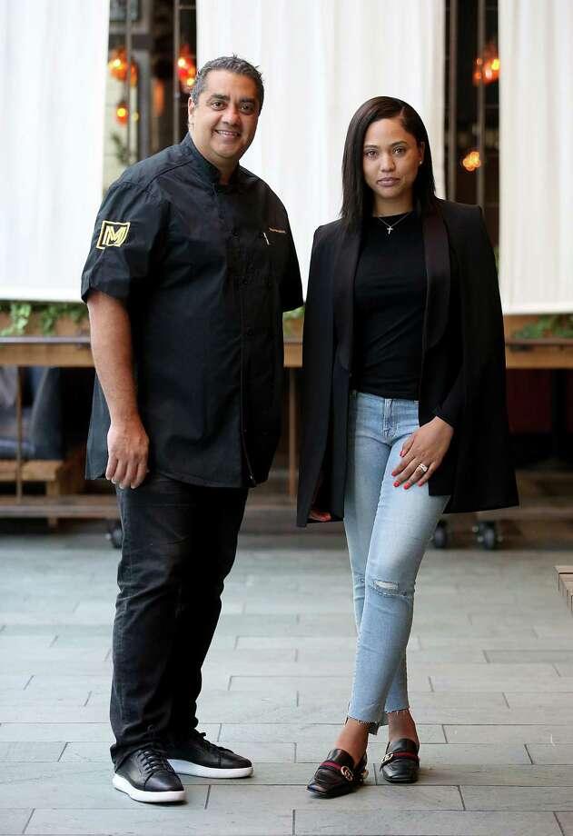 James Beard Award-winning chef Michael Mina and Food Network star Ayesha Curry will partner on new restaurant called International Smoke opening in Houston in June 2018. Photo: Liz Hafalia, Staff / The Chronicle / online_yes