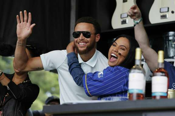 Stephen Curry and Ayesha Curry during an appearance at the Napa Valley Expo in California in 2017.