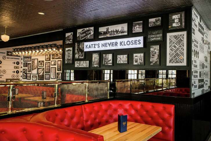 Architect Michael Hsu of Austin redesigned the interior of Katz's deli on Westheimer, which is marking its 20th anniversary this year.