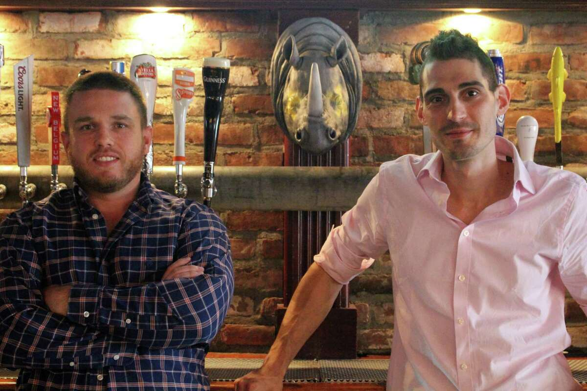 Owners Casey Dohme, left, and Matt Bacco are preparing to open a new Blind Rhino location in Bridgeport.